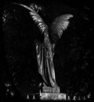 image of an angel in the night